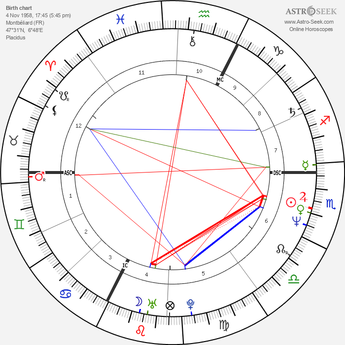 Dominique Voynet - Astrology Natal Birth Chart