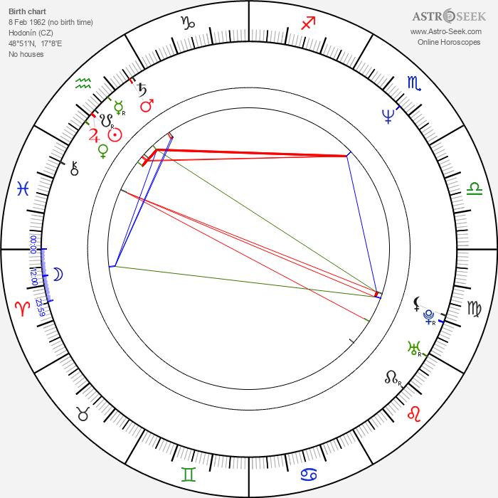 Naďa Horáková - Astrology Natal Birth Chart