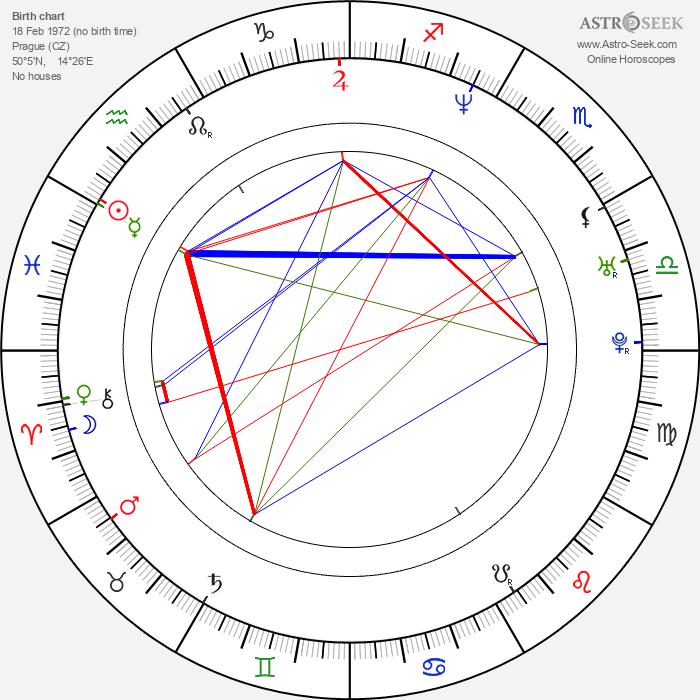 Vendula Pizingerová - Astrology Natal Birth Chart