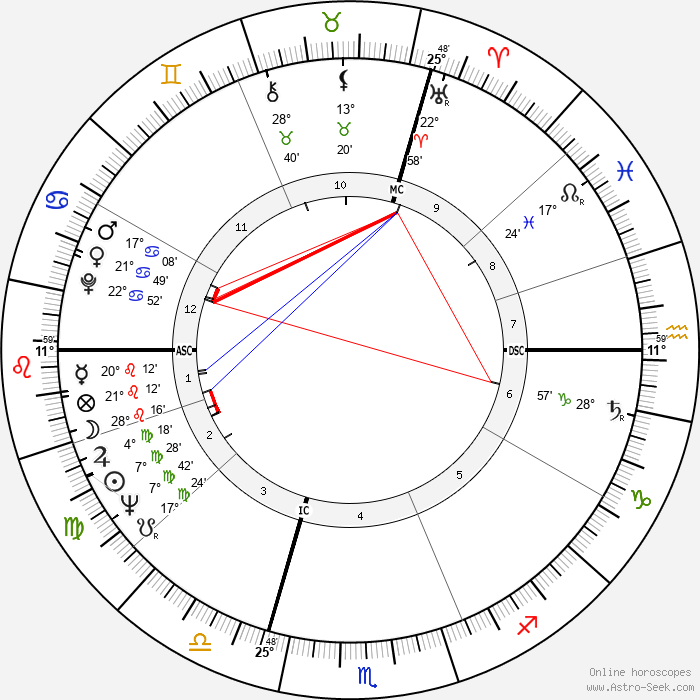 Michel Le Royer - Birth horoscope chart