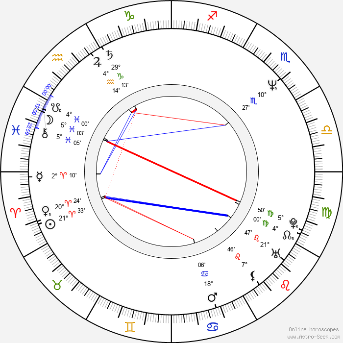 Vincent Gallo - Birth horoscope chart