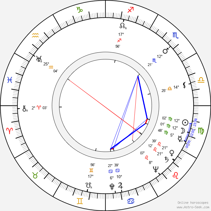 Wim Hoddes - Birth horoscope chart
