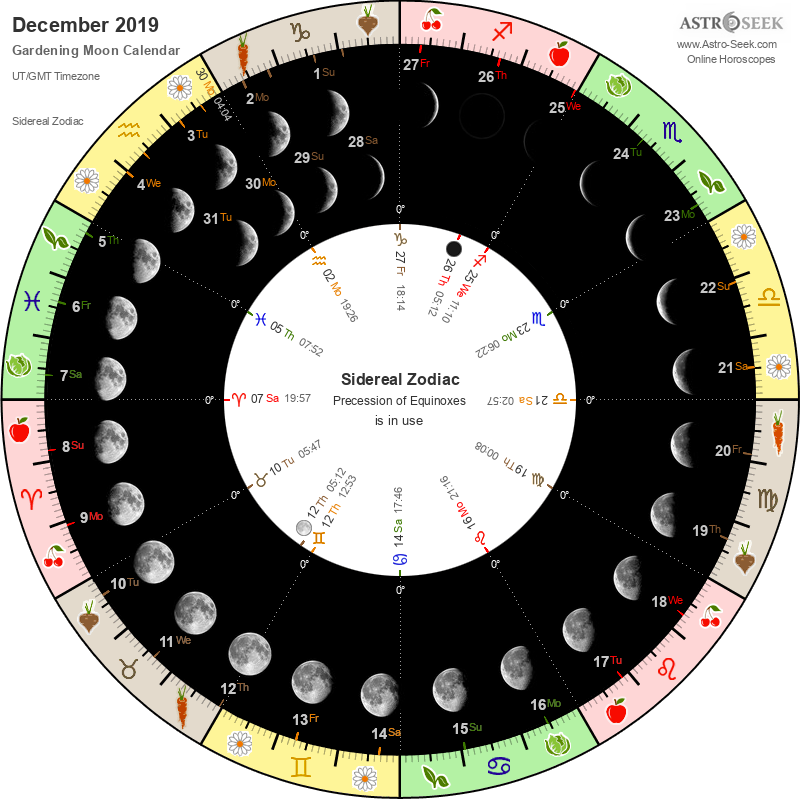 Biodynamic Gardening Moon Calendar - December 2019