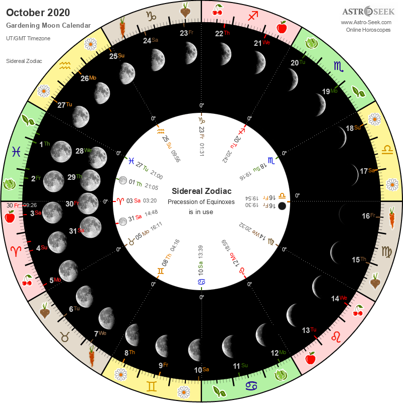 Biodynamic Gardening Moon Calendar - October 2020