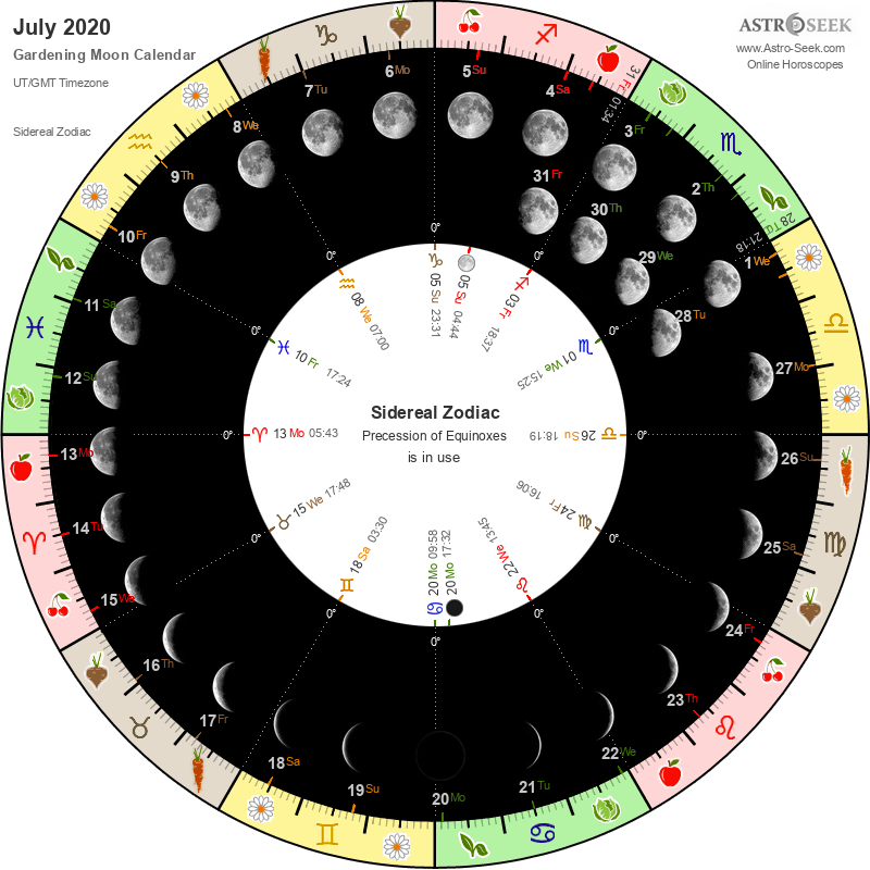 Biodynamic Gardening Moon Calendar - July 2020