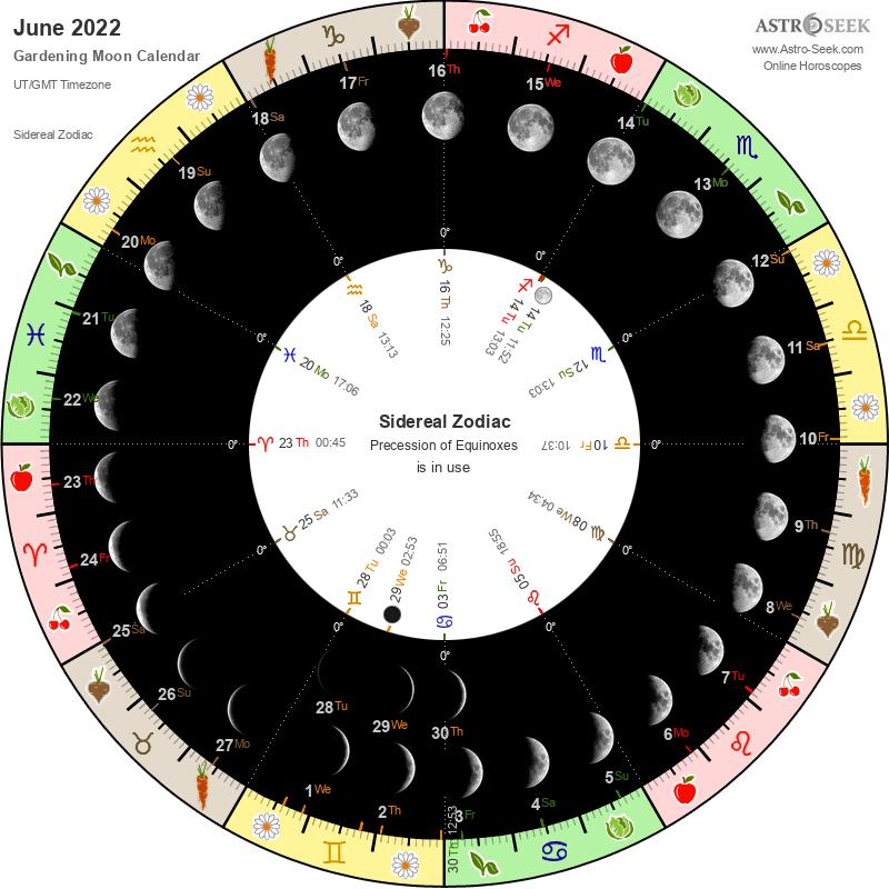 Lunar Calendar 2022.Gardening Moon Calendar June 2022 Lunar Calendar Gardening Guide 2022 June Astro Seek Com