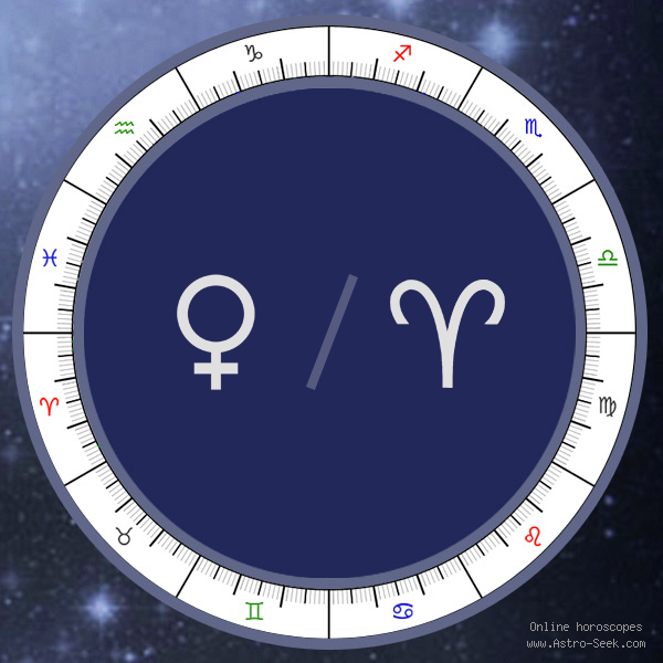 Venus in Aries Sign - Astrology Interpretations. Free Astrology Chart Meanings