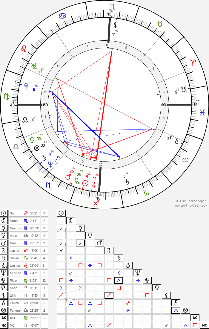 Stephen Roche - Astrology Natal Birth Chart