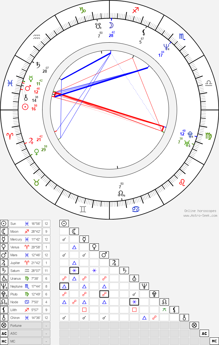 Wanda Sykes - Astrology Natal Birth Chart
